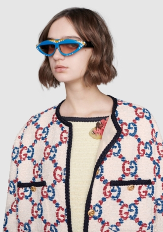 GG Sylvie Tweed Oversize Jacket