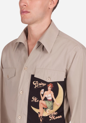 SHIRT WITH PIN-UP PATCH