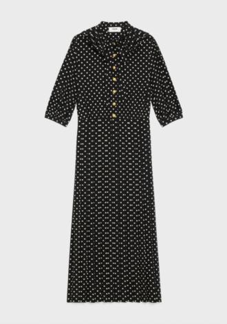 CELINE | PLEATED COLLAR DRESS |
